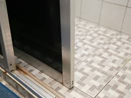 glass shower doors cleaning how to remove sliding glass shower doors 6 steps with pictures