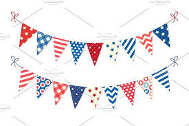 usa festive bunting flags in traditional colors ideal as