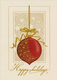 ornament with gold foil box of 14 cards by lpg greetings