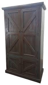 Door Armoire Rustic Double Door Armoire Transitional Armoires And Wardrobes