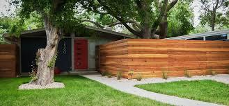 Mid Century Modern Landscaping by Denver Modern Fence Samples Midcentury Landscape Denver By