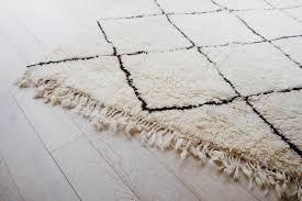 vintage moroccan rug cream shag wool rug bohemian scandinavian