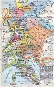 map germany and of germany and italy in 1803