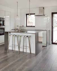 kitchen floors ideas grey hardwood floors ideas modern white kitchen design stainless