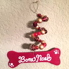 ornament 4 hand painted dog bone icicle 30 days of christmas