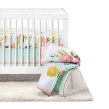Target Nursery Bedding Sets Crib Bedding Set Floral Fields 4pc Cloud Island Pink Mint