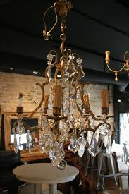Antique Brass Chandelier Antique French 5 Light Brass And Crystal Chandelier Sold