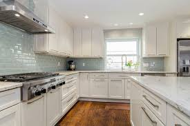 Gorgeous Glass Tile Backsplash Ideas With White Cabinets  Glass - Kitchen tile backsplash ideas with white cabinets