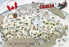 map of canada remembering letters and postcards