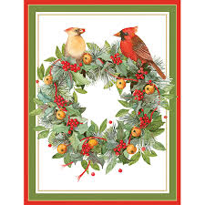 boxed christmas cards wreath boxed greeting cards