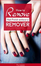to remove nail polish without a remover