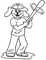 printable baseball coloring page dog baseball player clip art