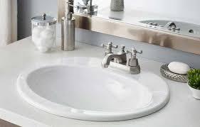 Overmount Bathroom Sink Cheviot Drop In Bathroom Sinks Throughout Drop In Bathroom Sinks