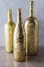 Diy Wine Bottle Vases Diy Wine Bottle Glitter Vases A Little Craft In Your Day