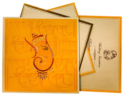 Single Card Wedding Invitations Themed Wedding Cards With Hindu Shlokas