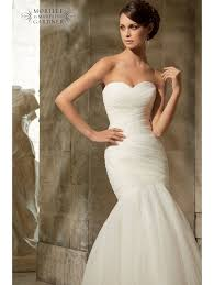 fishtail wedding dress mori 5108 tulle fish bridal gown ivory