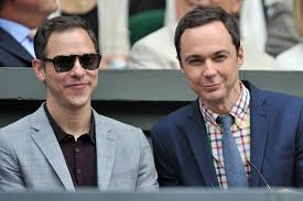 jim parsons and partner todd spiewak tie the knot cbs news