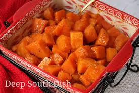 south dish southern candied yams sweet potatoes