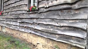 slab wood slab wood siding on house