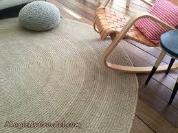 Natural Jute Rugs Premium Braided Jute Area Rug 8ft 240cm Crochet Rug Large
