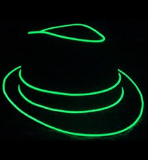 new neon light up fedora hat battery powered amazing great for
