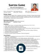 Field Service Engineer Resume Sample by 34509634 Experienced Electrical Engineer Cv Electrical