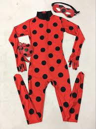 Ladybug Toddler Halloween Costume Aliexpress Buy Kids Zip Miraculous Ladybug Cosplay