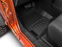weathertech jeep wrangler weathertech wrangler digitalfit front floorliner black 441051