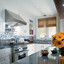 blue kitchen backsplash blue mosaic tiles contemporary kitchen