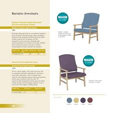 Bariatric Armchairs 1 Sidhil Primary Care Brochure Nursing U0026 Residential Products 2016 U2026