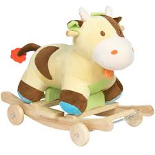 Kid Rocking Chair Best Choice Products Kids Ride On Plush Cow Animal Rocker W Wheels Ch
