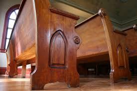 Church Benches Used Historic Church Minnesota Prairie Roots