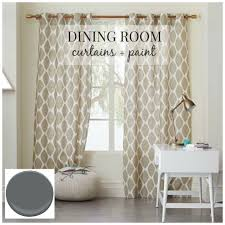 dining room curtains with white wooden elegant fancy exciting