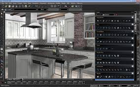 turbocad deluxe 20 pc electronics kitchen design rendering