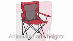 Coleman Reclining Camp Chair Coleman Broadband Tm Quad Chair Youtube
