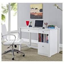 Desktop Computer Desk Home Office Deluxe Storage Computer Desk White Wood Saracina