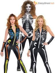 womens skeleton jumpsuit skeleton catsuit costume fancy dress jumpsuit