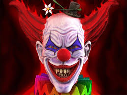 scary halloween backgrounds funny scary clown wallpapers 1024x768px 3d evil jester wallpaper
