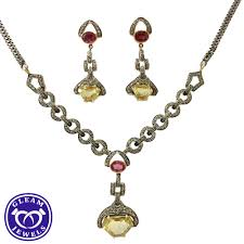 natural topaz necklace images Victorian diamond necklace and earrings with ruby topaz gleam jpg