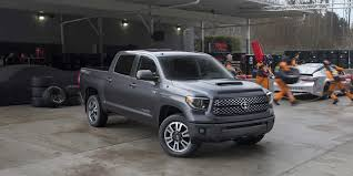 toyota truck deals 2018 toyota tundra trd sport vehicles on display chicago
