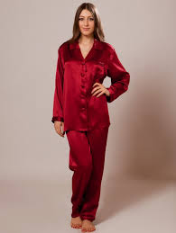 s silk pajamas sw38wine