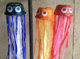 paper bowl jellyfish art u0026 craft idea for kids youtube