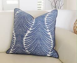Callisto Home Pillows by Cayman Palms Linen Cushions Blue And White Linen Pillows