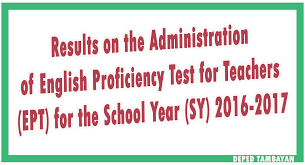 results on the administration of english proficiency test for