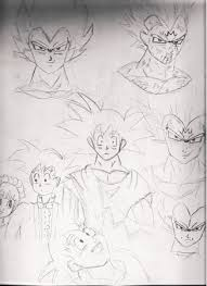 dragon ball sketches 1 paperdemon
