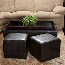 Ottomans by Leather Ottomans U0026 Benches Costco