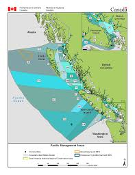 Map Of Bc Management Area Maps Fisheries And Oceans Canada Pacific Region