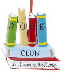 book club personalized ornament