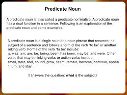 predicate nouns
