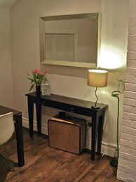 Small Entryway Design Ideas Adding Narrow Console Tables For Perfect Interior Room Decor